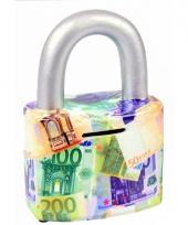 Spaarpot slotje euro 16 cm trend