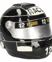 Spaarpot zwarte race helm trend