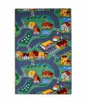 Speel tapijt dorp met wegen 100 x 165 cm trend