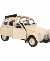 Speelgoed beige citroen 2cv auto cabrio 1 36 trend