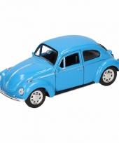 Speelgoed blauwe volkswagen kever classic auto 14 5 cm trend