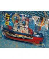 Speelgoed brandweer boot plastic trend