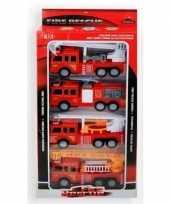 Speelgoed brandweerauto set 4 delig trend