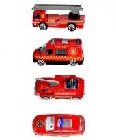 Speelgoed brandweerauto set 4 stuks trend