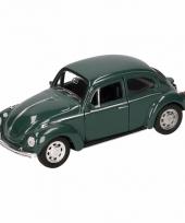Speelgoed donkergroene volkswagen kever classic auto 14 5 cm trend