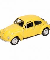 Speelgoed gele volkswagen kever classic auto 14 5 cm trend