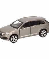 Speelgoed grijze audi q7 auto 12 cm trend
