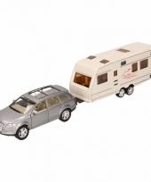 Speelgoed grijze audi q7 auto met caravan 1 48 trend