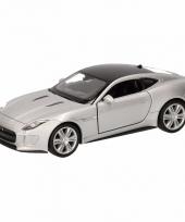 Speelgoed grijze jaguar f type coupe speelauto 12 cm trend