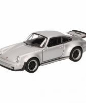 Speelgoed grijze porsche 911 turbo auto 12 cm trend