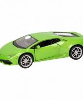 Speelgoed groene lamborghini huracan lp610 4 auto 12 cm trend