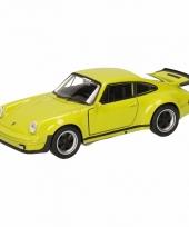 Speelgoed groene porsche 911 turbo auto 12 cm trend