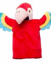Speelgoed handpoppen knuffel papegaai 22 cm trend