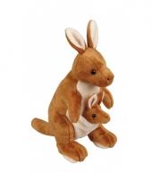 Speelgoed knuffel kangoeroe 28 cm trend