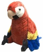 Speelgoed knuffel rode papegaai 76 cm trend