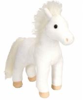 Speelgoed knuffel wit paard 30 cm trend