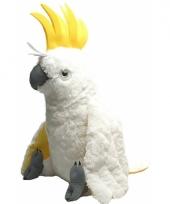 Speelgoed knuffel witte papegaai 76 cm trend