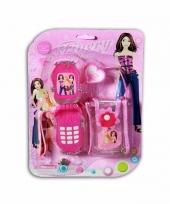Speelgoed mobiel roze met tasje trend
