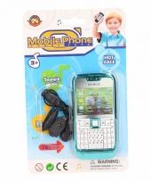 Speelgoed mobiele telefoon turquoise trend
