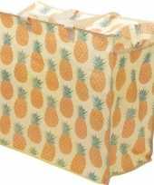 Speelgoed opbergtas opbergzak ananas print 55 x 48 cm trend