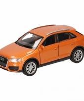 Speelgoed oranje audi q3 auto 12 cm trend