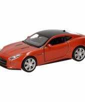 Speelgoed oranje jaguar f type coupe speelauto 12 cm trend