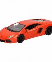 Speelgoed oranje lamborghini aventador lp700 4 auto 12 cm trend