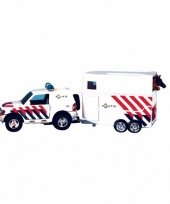 Speelgoed politie auto met trailer trend