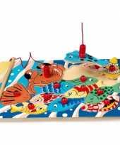 Speelgoed puzzel met vissen en magneet hengel trend