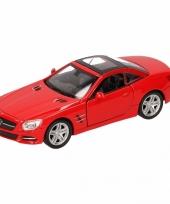 Speelgoed rode mercedes benz sl500 12 dichte cabrio 1 36 trend