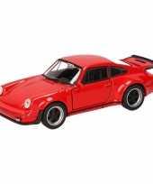 Speelgoed rode porsche 911 turbo auto 12 cm trend