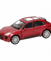 Speelgoed rode porsche macan turbo auto 12 cm trend