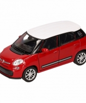 Speelgoed rood witte fiat 500 l auto 11 5 cm trend