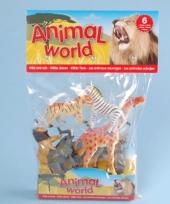 Speelgoed safari dieren 6 stuks trend
