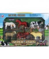 Speelgoed set plastic boerderij dieren 6 stuks trend
