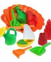Speelgoed strand set met zandvormen 7 delig trend