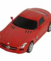 Speelgoed voertuigen mercedes rood sls amg trend