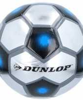 Speelgoed voetbal grijs zilver blauw 23 cm trend