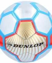 Speelgoed voetbal rood zilver blauw 23 cm trend