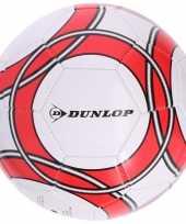 Speelgoed voetbal wit rood 21 cm voor kinderen volwassenen trend