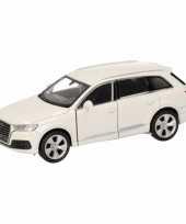 Speelgoed witte audi q7 auto 12 cm trend