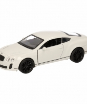 Speelgoed witte bentley continental supersports auto 12 cm trend