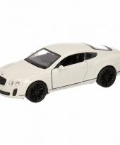 Speelgoed witte bentley continental supersports auto 12 cm trend