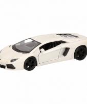 Speelgoed witte lamborghini aventador lp700 4 auto 12 cm trend
