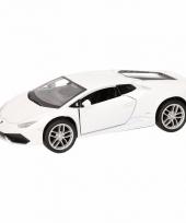 Speelgoed witte lamborghini huracan lp610 4 auto 12 cm trend