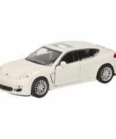Speelgoed witte porsche panamera s auto 12 cm trend
