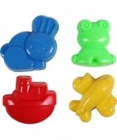 Speelgoed zandvormen diversen 4 stuks trend