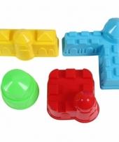 Speelgoed zandvormen gebouwen 4 stuks trend