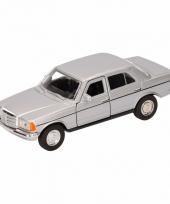 Speelgoed zilveren mercedes benz w123 16 cm trend