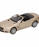 Speelgoed zilveren mercedes sl500 12 open cabrio 1 36 trend